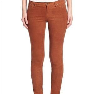 AG Adriano Goldschmied suede skinny pant